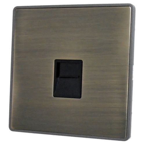 G&H LAB33B Screwless Antique Bronze 1 Gang Master BT Telephone Socket